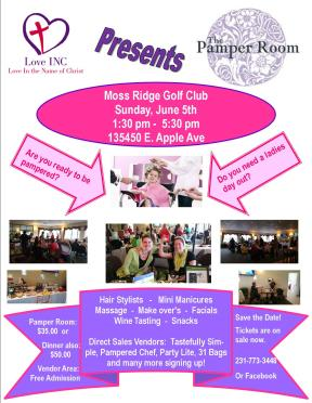 Pamper Room Flyer