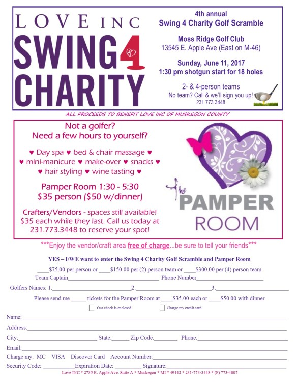 Golf & Pamper newsletter flyerRevised