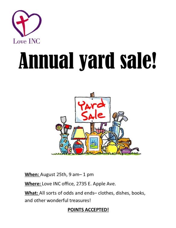Yard sale flyer 2018